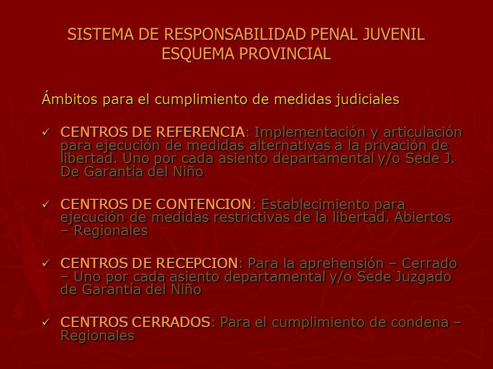 SISTEMA DE RESPONSABILIDAD PENAL JUVENIL ESQUEMA PROVINCIAL