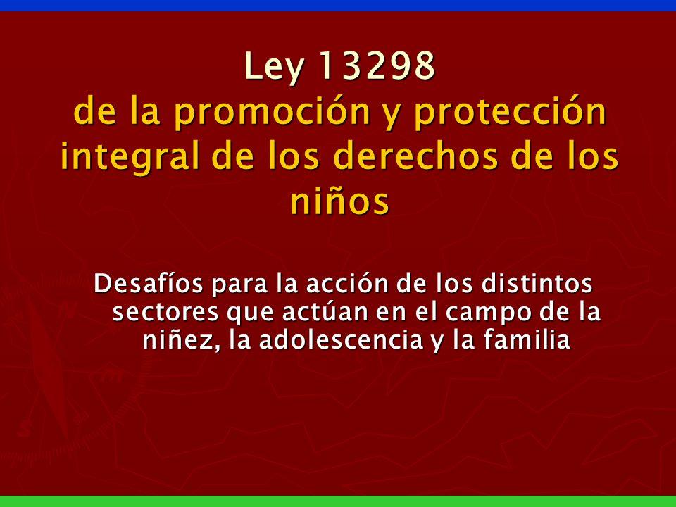 Ley 13298 de la promoción y protección integral de los derechos de los niños