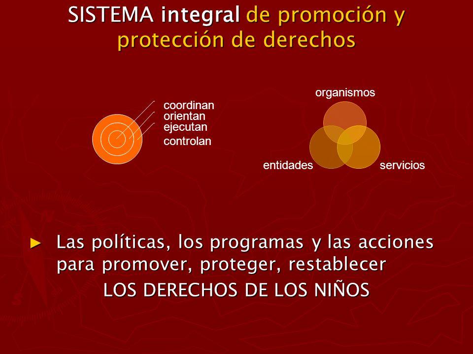 SISTEMA integral de promoción y protección de derechos