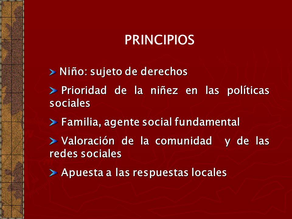 PRINCIPIOS Prioridad de la niñez en las políticas sociales