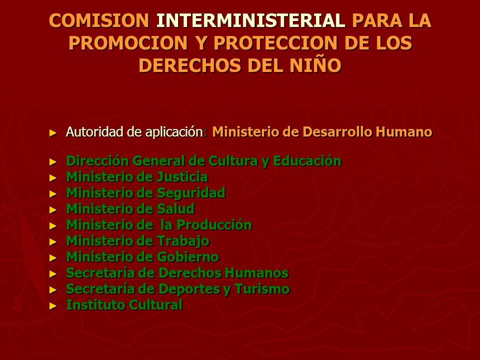 COMISION INTERMINISTERIAL PARA LA PROMOCION Y PROTECCION DE LOS DERECHOS DEL NIÑO