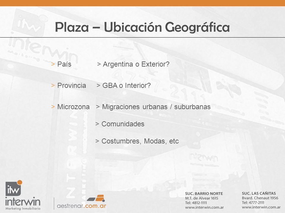 Plaza – Ubicación Geográfica