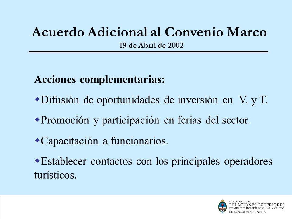 Acuerdo Adicional al Convenio Marco 19 de Abril de 2002
