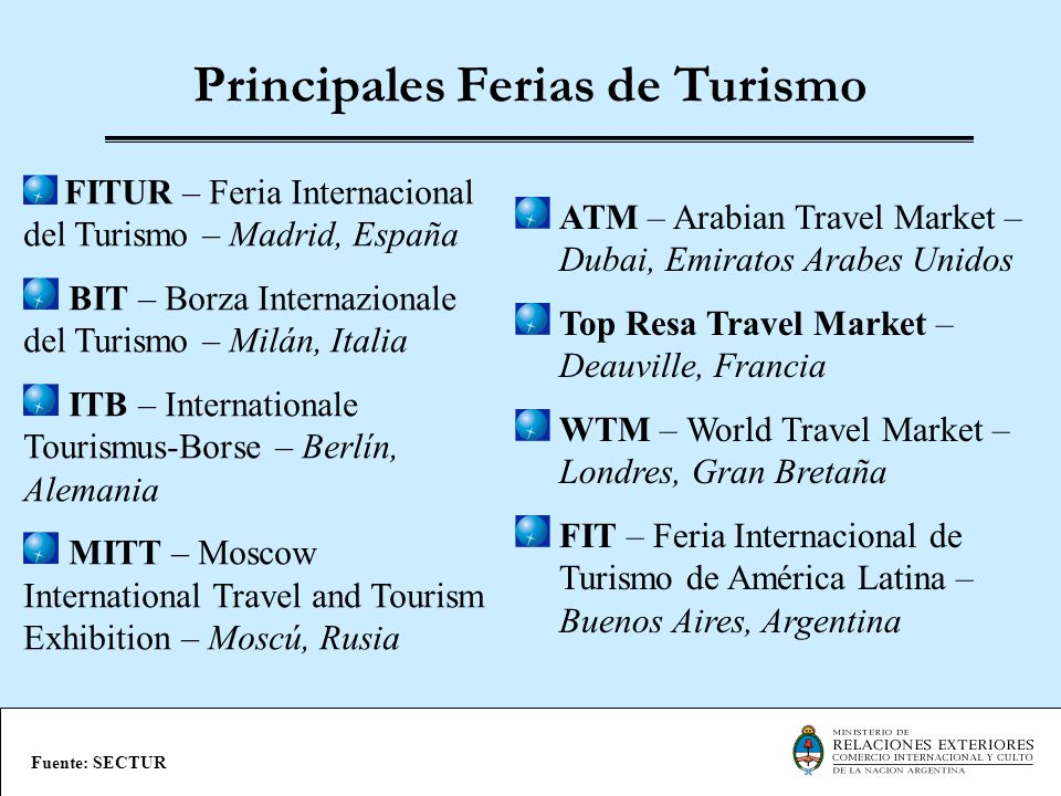 Principales Ferias de Turismo