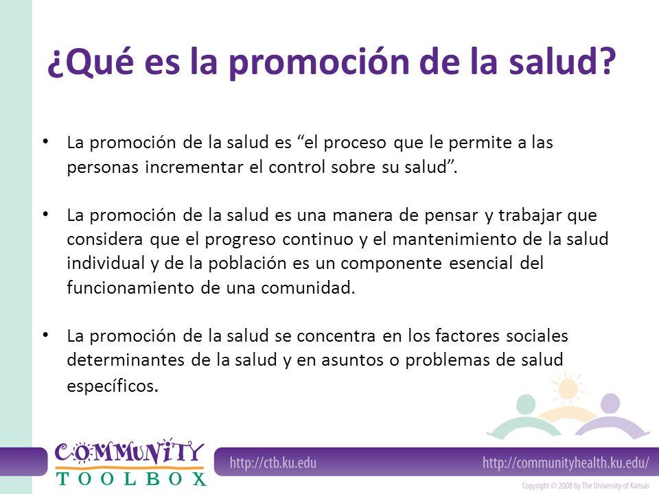 ¿Qué es la promoción de la salud