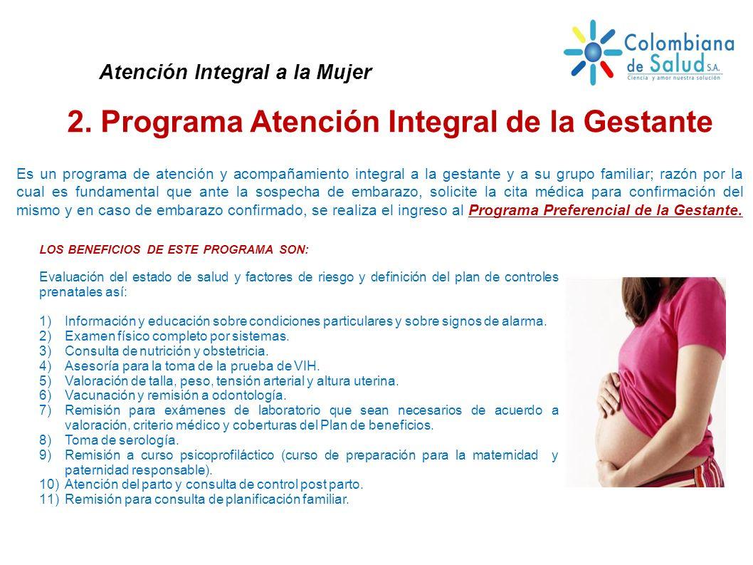 2. Programa Atención Integral de la Gestante