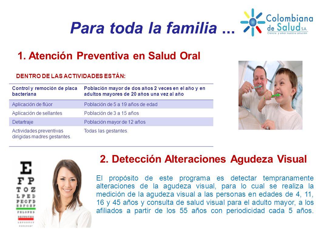 1. Atención Preventiva en Salud Oral