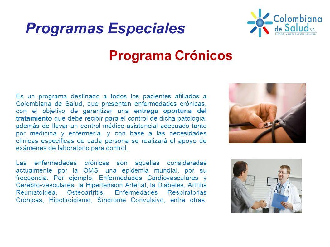 Programas Especiales Programa Crónicos