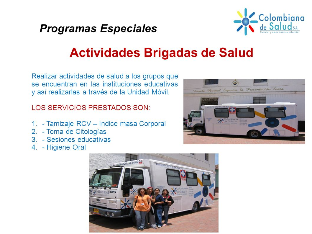Actividades Brigadas de Salud