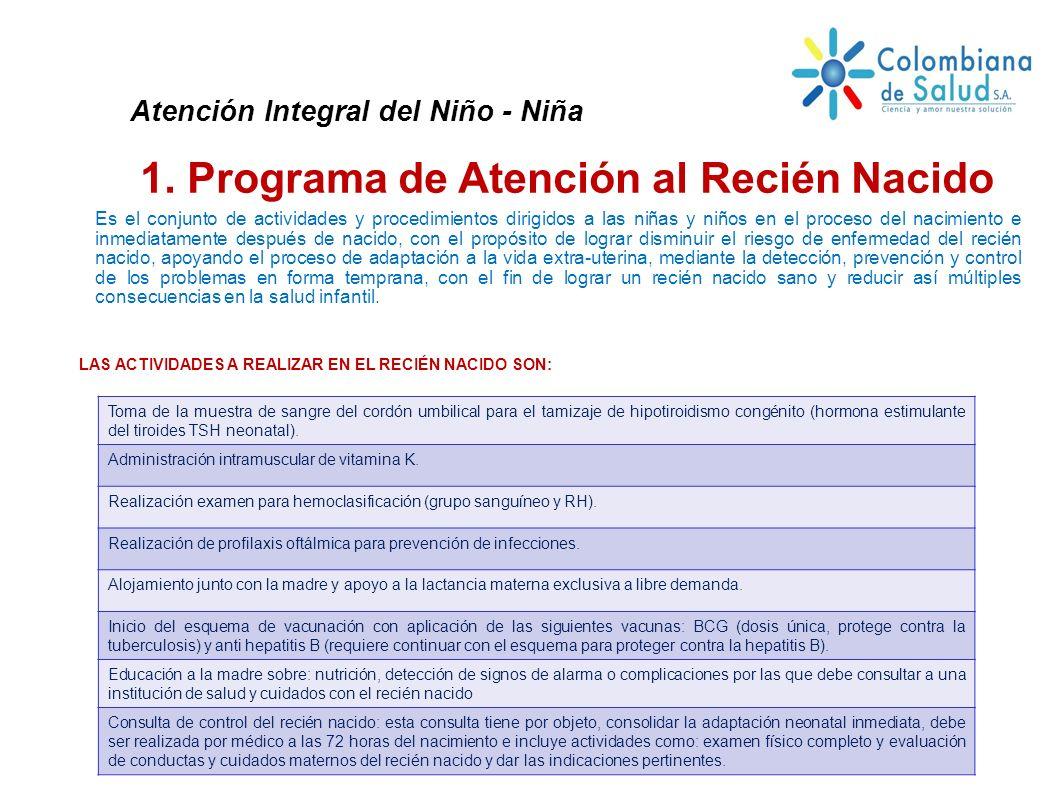 1. Programa de Atención al Recién Nacido