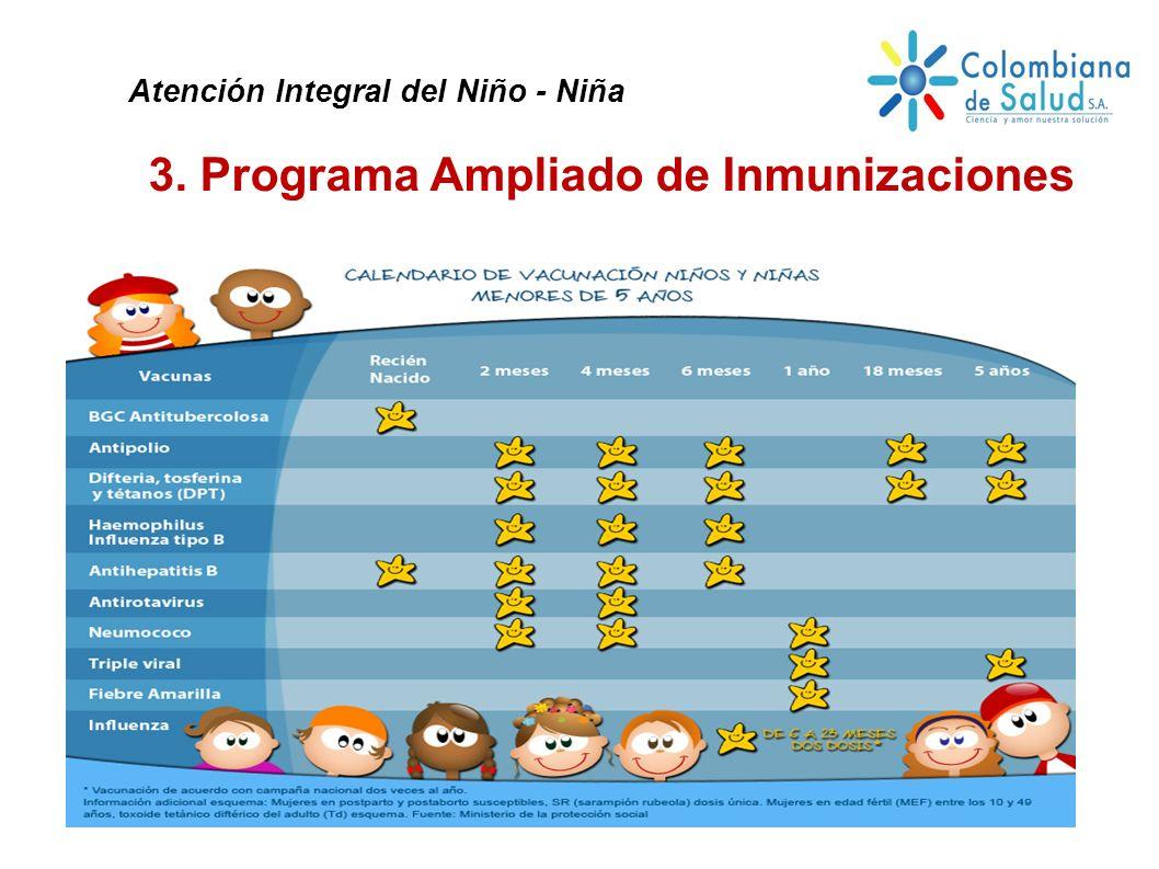 3. Programa Ampliado de Inmunizaciones