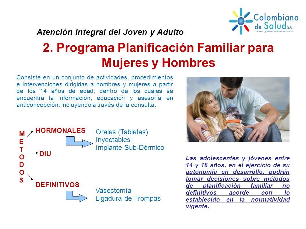 2. Programa Planificación Familiar para Mujeres y Hombres