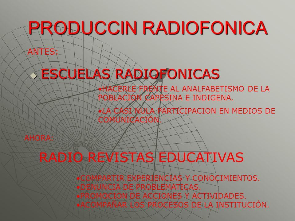 PRODUCCIN RADIOFONICA