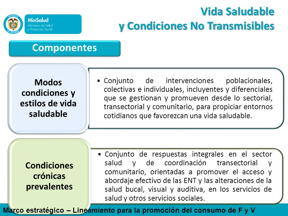 Vida Saludable y Condiciones No Transmisibles
