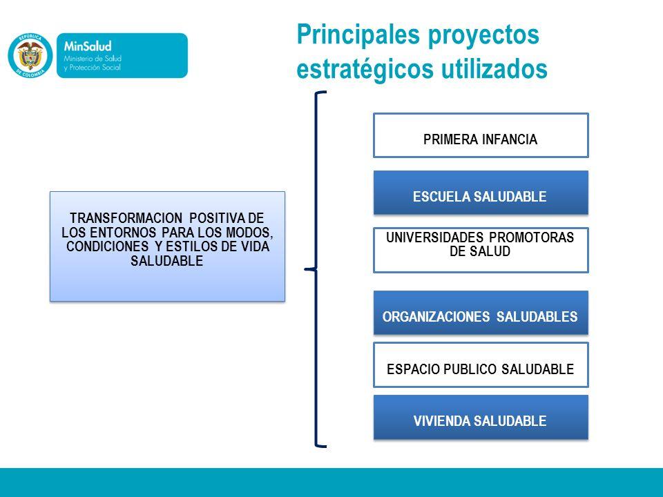 Principales proyectos estratégicos utilizados