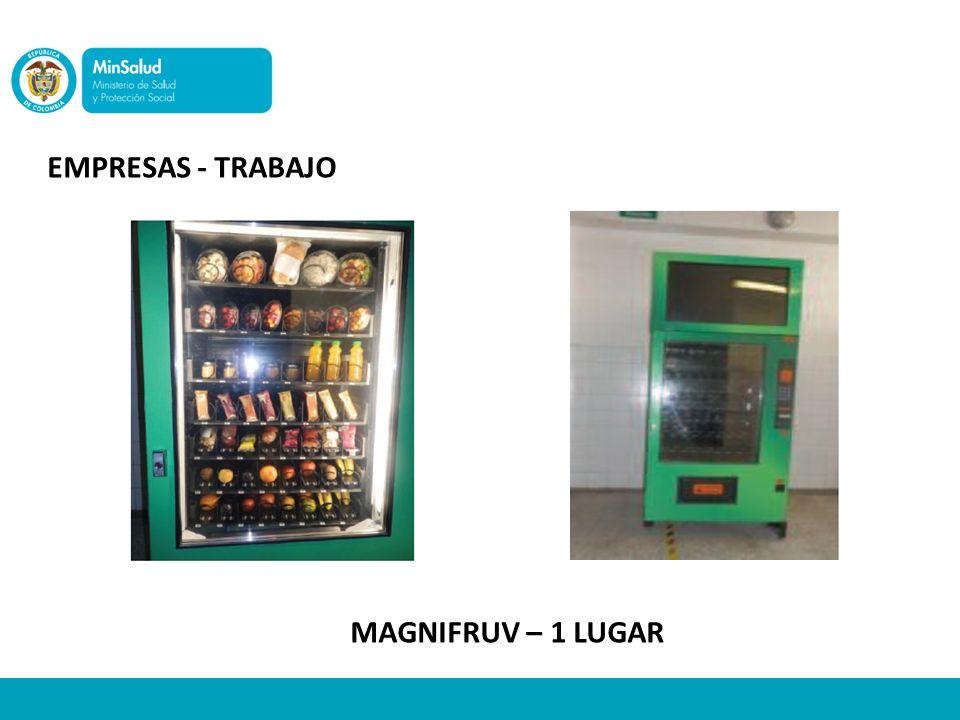 Empresas - trabajo MAGNIFRUV – 1 LUGAR