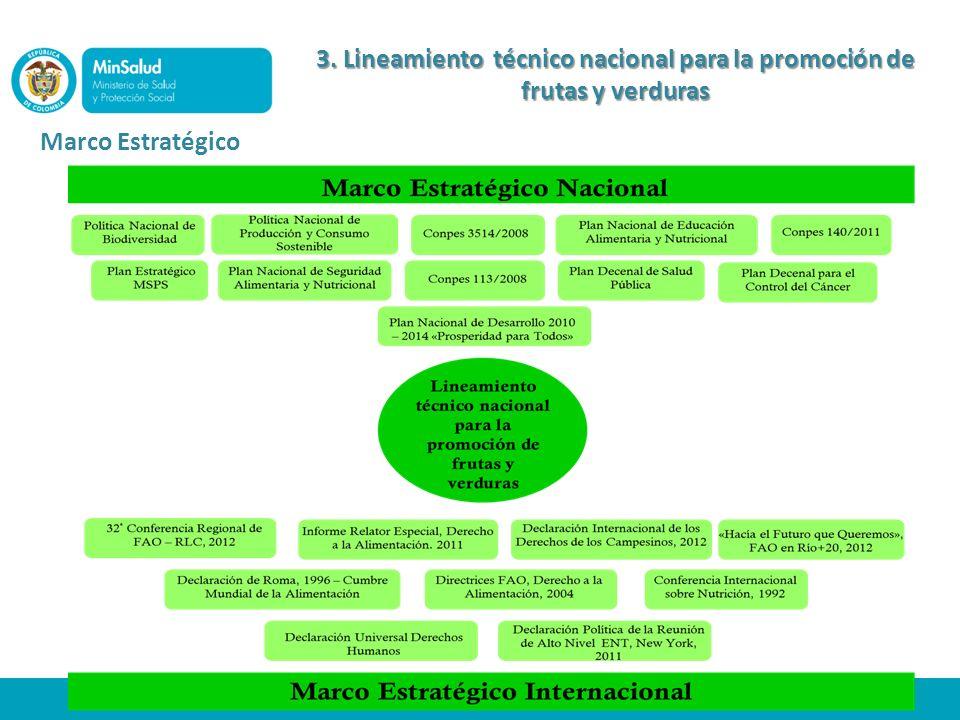 3. Lineamiento técnico nacional para la promoción de frutas y verduras