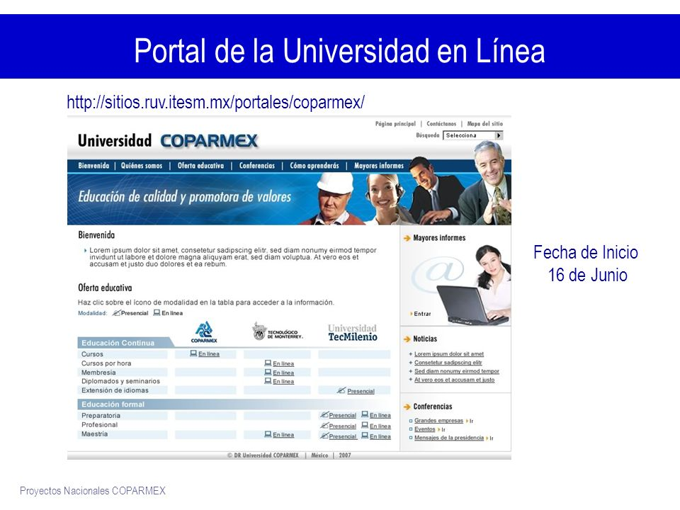 Portal de la Universidad en Línea