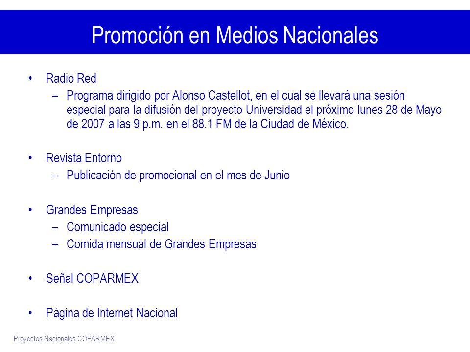 Promoción en Medios Nacionales