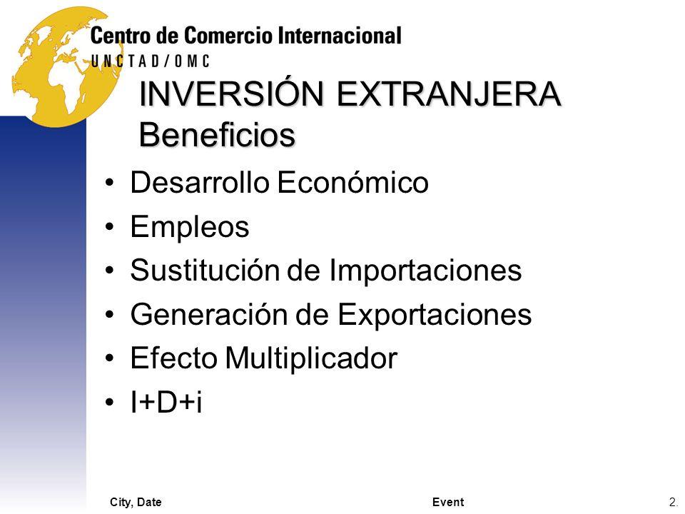 INVERSIÓN EXTRANJERA Beneficios