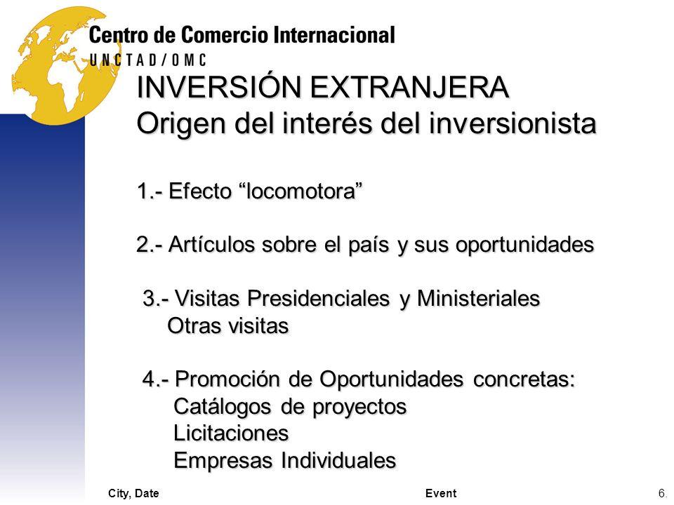 INVERSIÓN EXTRANJERA Origen del interés del inversionista 1