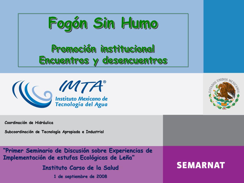 Fogón Sin Humo Promoción institucional Encuentros y desencuentros