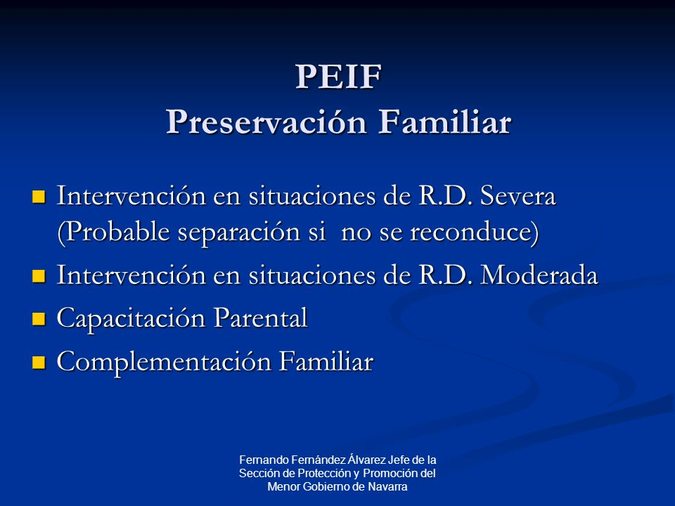 PEIF Preservación Familiar