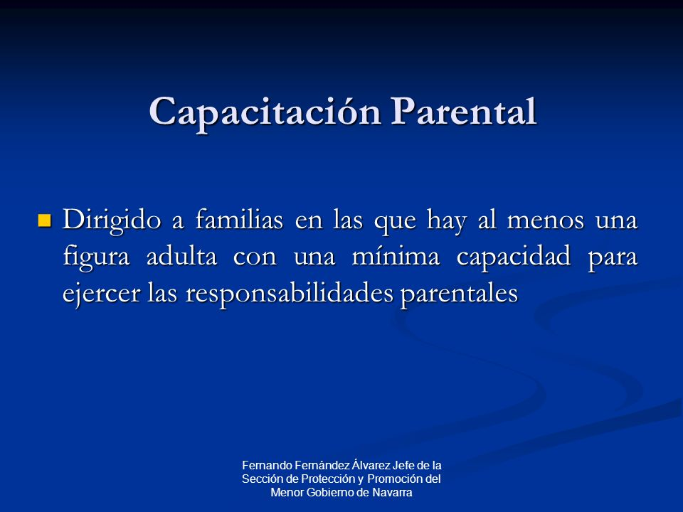 Capacitación Parental