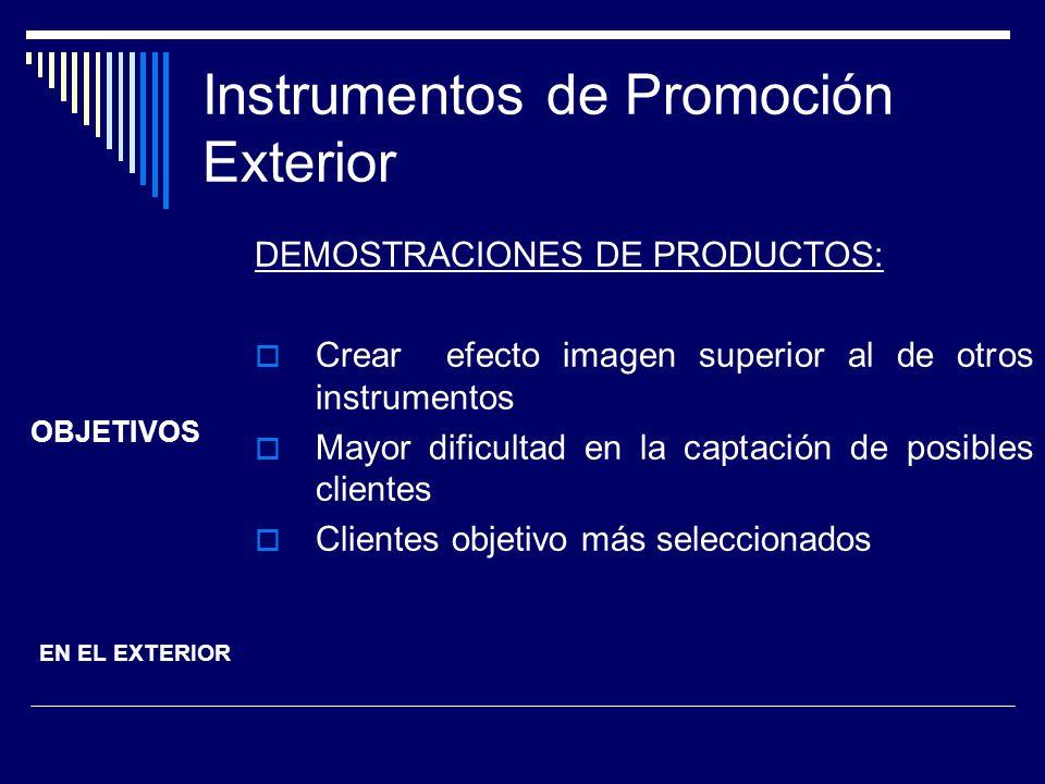 Instrumentos de Promoción Exterior