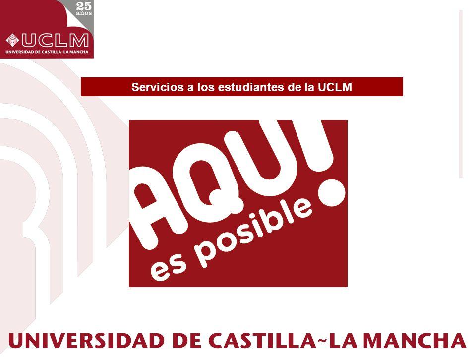 Servicios a los estudiantes de la UCLM