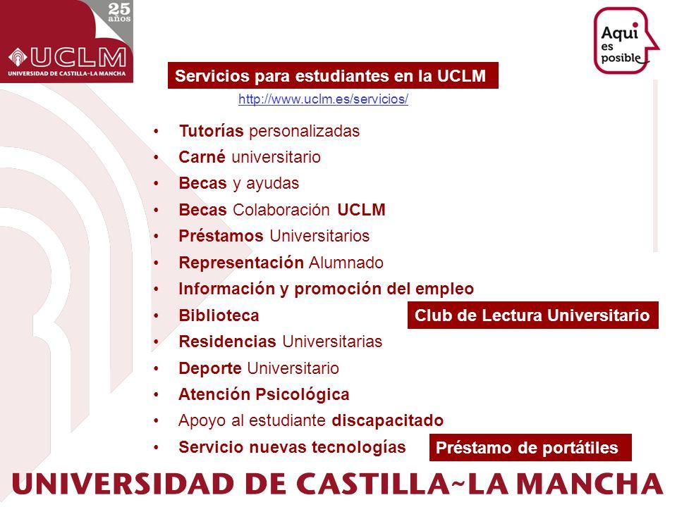 Servicios para estudiantes en la UCLM