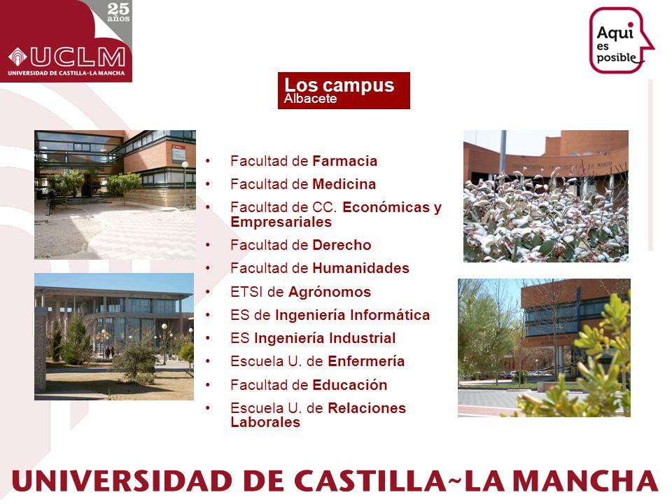 Los campus Facultad de Farmacia Facultad de Medicina
