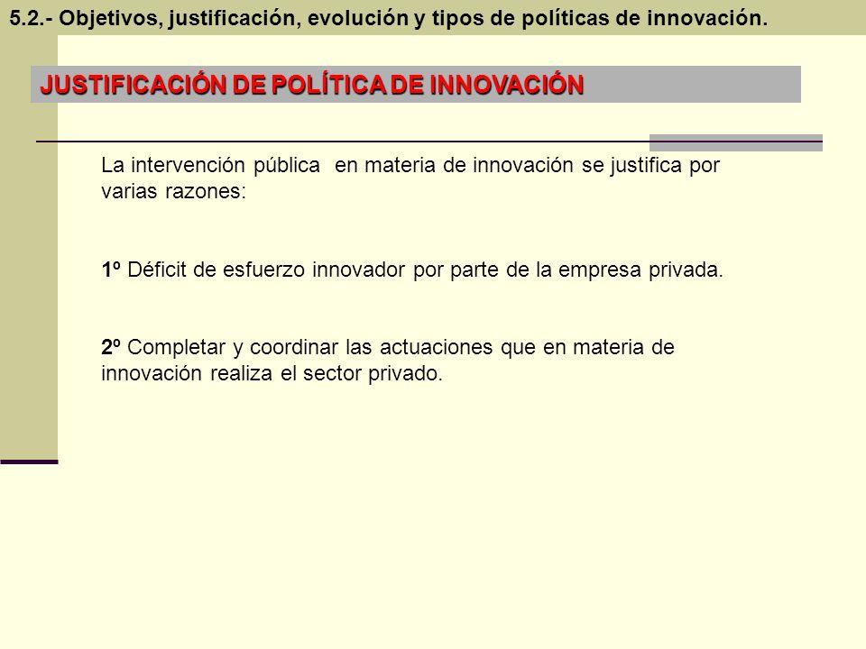 JUSTIFICACIÓN DE POLÍTICA DE INNOVACIÓN