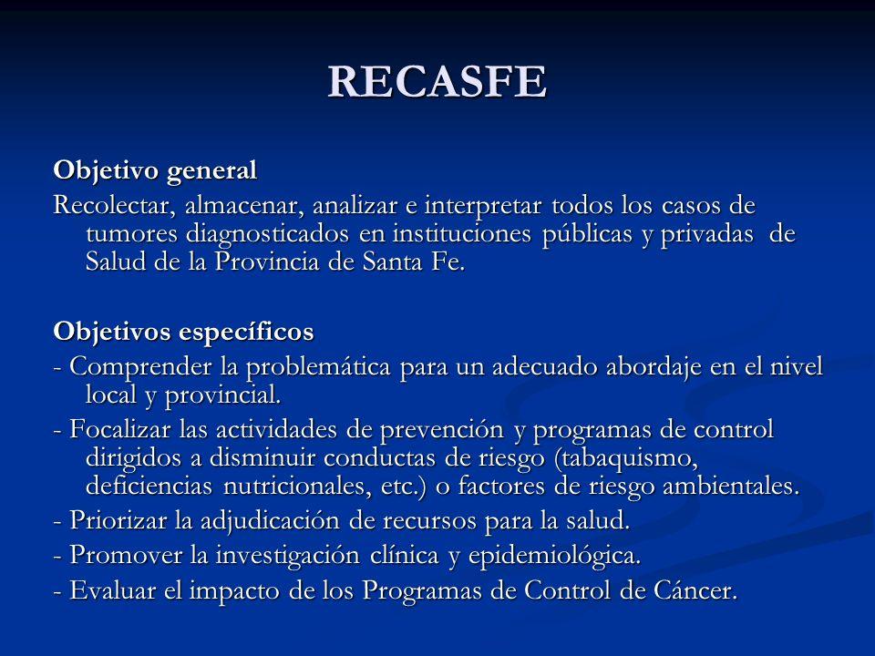 RECASFE Objetivo general