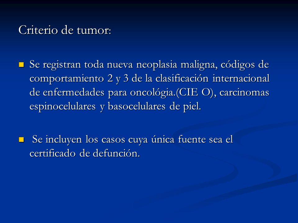 Criterio de tumor: