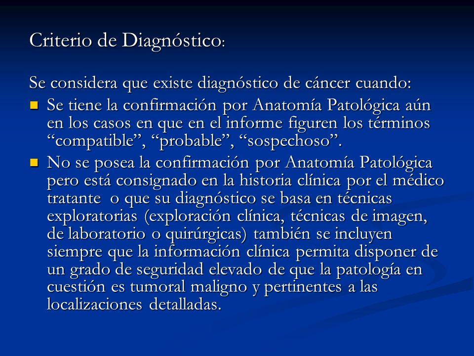 Criterio de Diagnóstico: