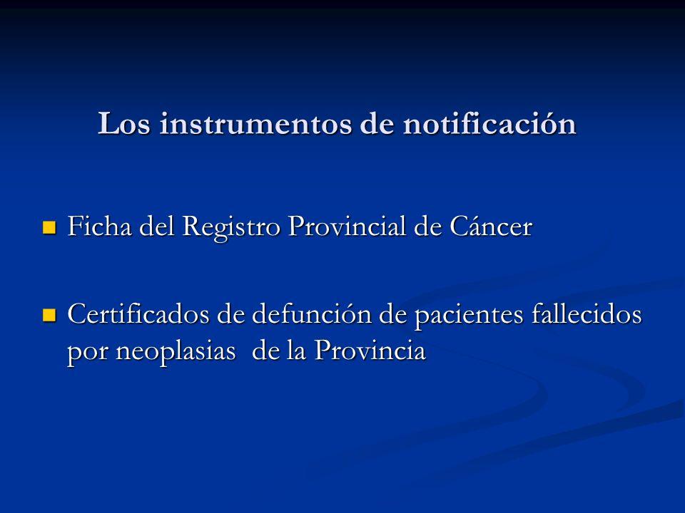 Los instrumentos de notificación