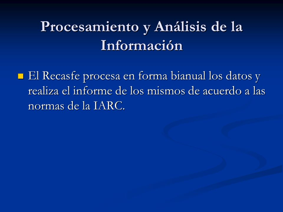 Procesamiento y Análisis de la Información