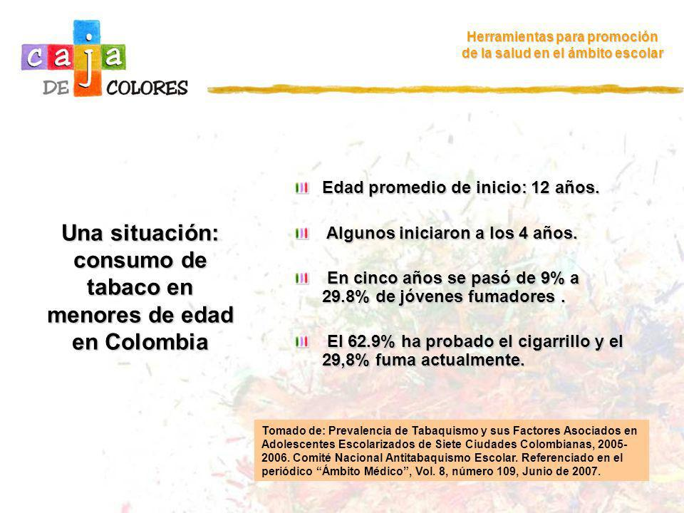 Una situación: consumo de tabaco en menores de edad en Colombia