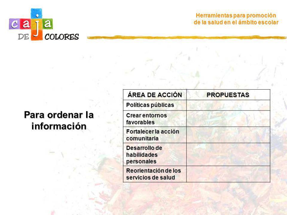 Para ordenar la información