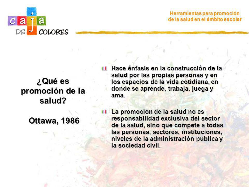 ¿Qué es promoción de la salud Ottawa, 1986