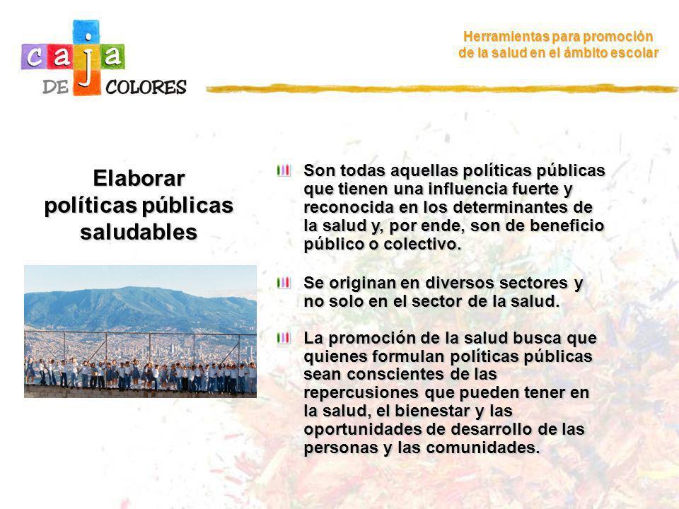 Elaborar políticas públicas saludables