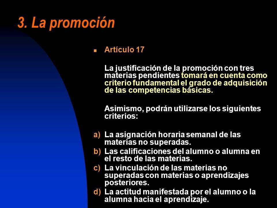 3. La promoción Artículo 17.