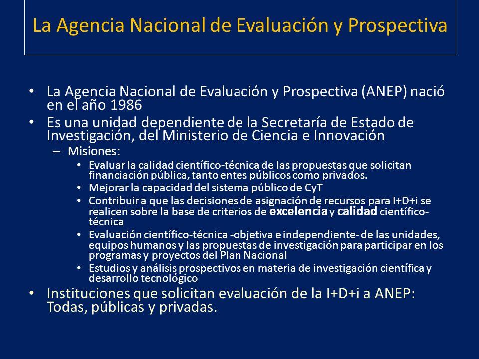 La Agencia Nacional de Evaluación y Prospectiva