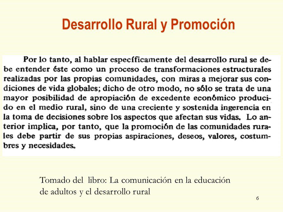 Desarrollo Rural y Promoción