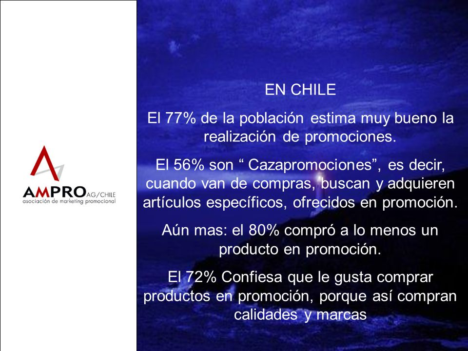 El 77% de la población estima muy bueno la realización de promociones.