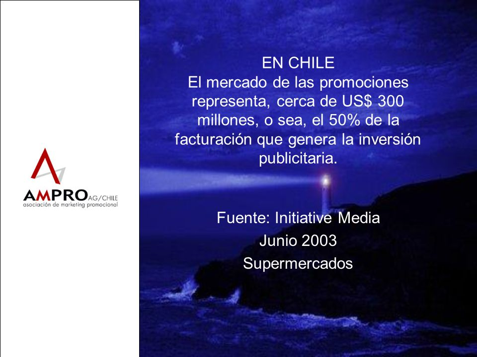 Fuente: Initiative Media Junio 2003 Supermercados