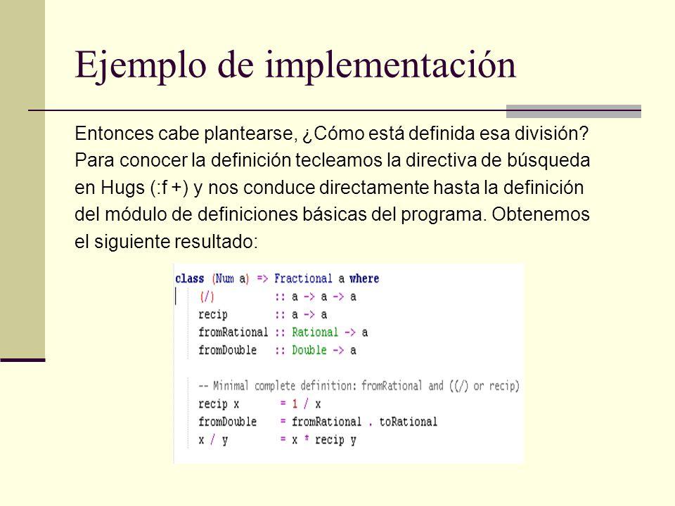 Ejemplo de implementación