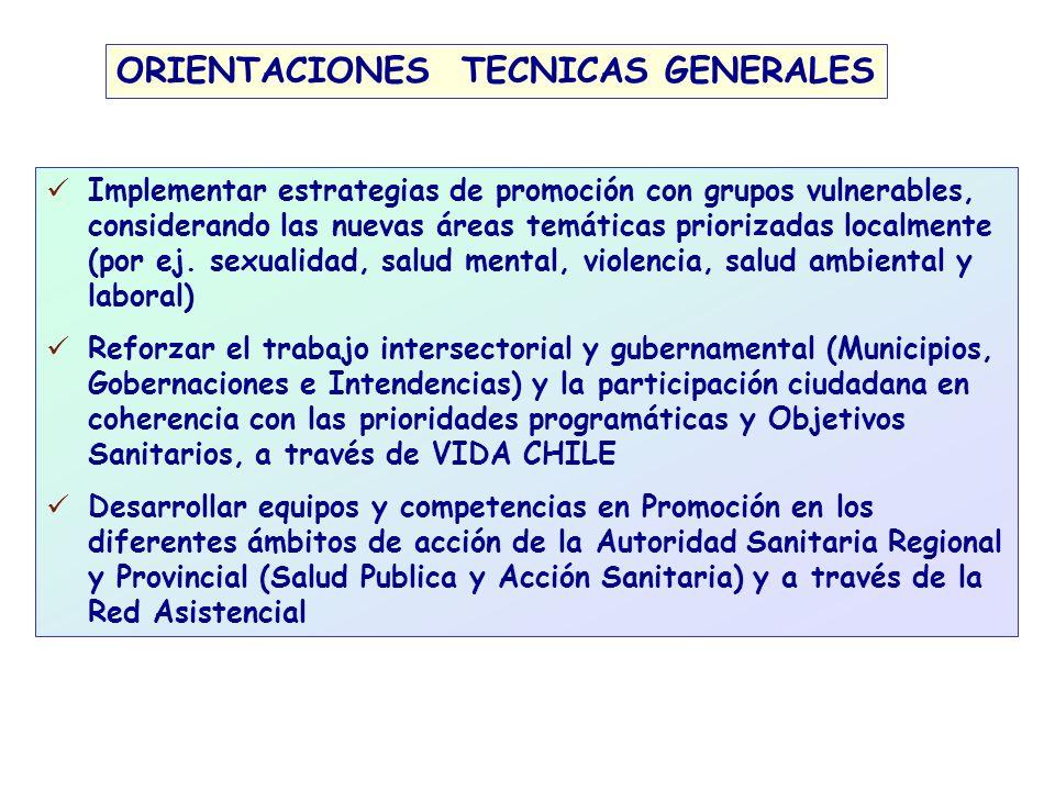 ORIENTACIONES TECNICAS GENERALES