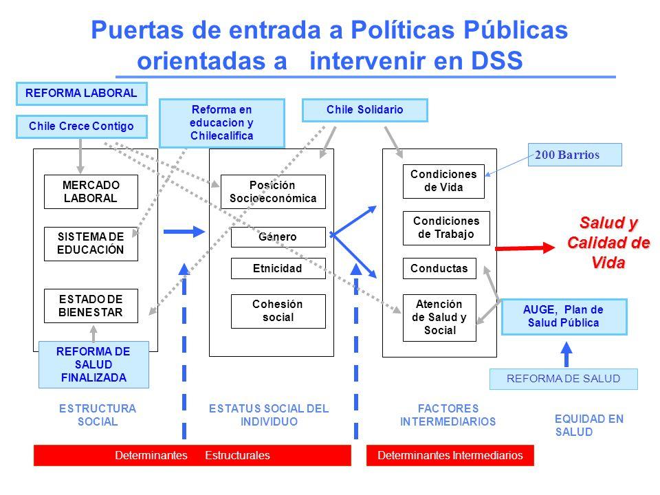 Puertas de entrada a Políticas Públicas orientadas a intervenir en DSS